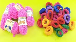 amazing home decorating idea Out of Hair rubber band & woolen craft idea