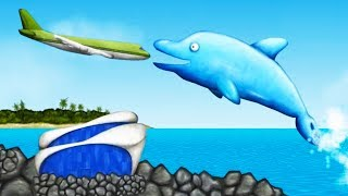 Ocean's LARGEST DOLPHIN Eats EVERYTHING! - Tasty Blue Gameplay - Game like IO game