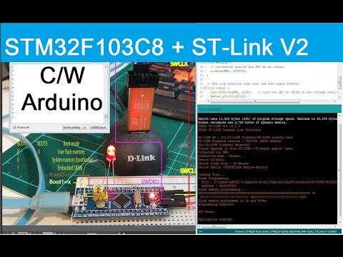 (STM32F103C8) Beginning for Programming STM32 Arduino through ST-Link V2  ( comport maple serial)