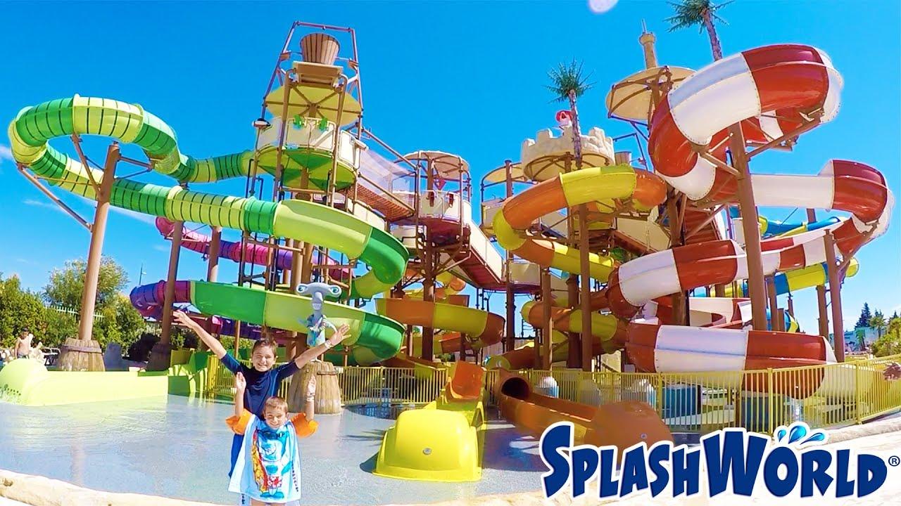 Vlog incroyables toboggans aquatiques au parc for Swan et neo piscine