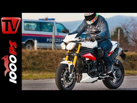 Triumph Speed Triple R 2015  Test, Onboard, vgl. Tuono 1100