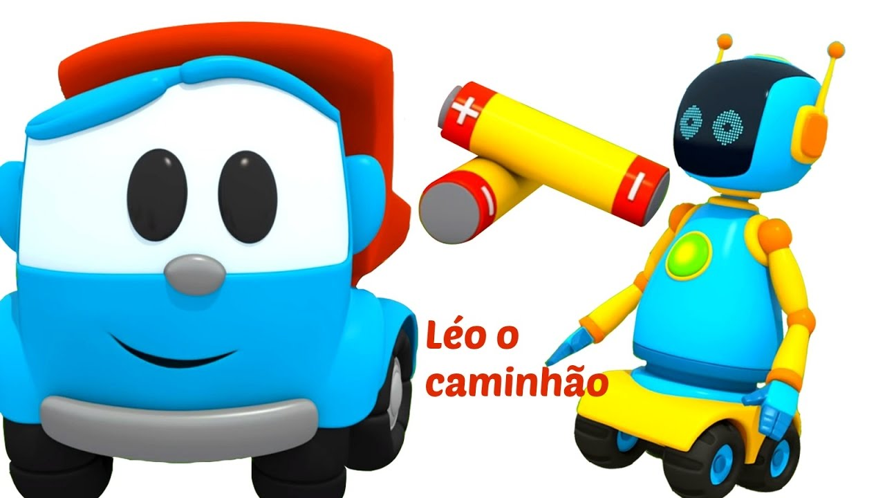 Leo O Caminhao Curioso Um Robo As Cores Para Criancas Youtube