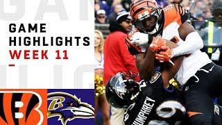 Bengals vs. Ravens Week 11 Highlights