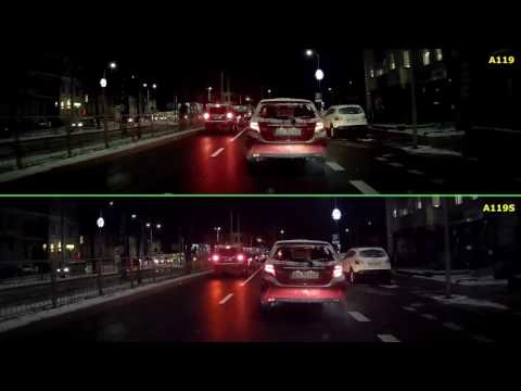 VIOFO A119  1440p vs A119S   1080p with CPL filter (1440&30) Night