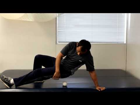 How to relieve pyriformis and hip pain with tennis ball?