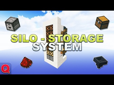 Minecraft - Storage Silo // Silo Lagersystem - (Quick) Tutorial 1.12