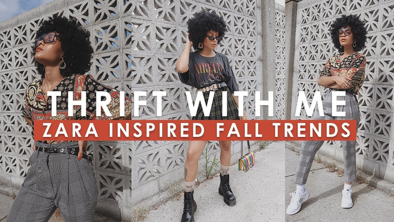 [VIDEO] - Thrift With Me || ZARA INSPIRED FALL TRENDS Try on Haul! 9