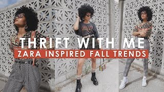 Thrift With Me || ZARA INSPIRED FALL TRENDS Try on Haul!