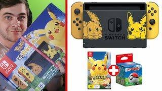 Unboxing konsoli Nintendo Switch: Edycja Let's Go, Pikachu!