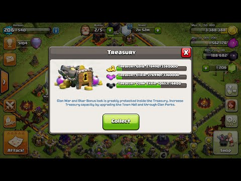 Clash Of Clans | BEST WAY TO USE TREASURY (AKA THE BANK)