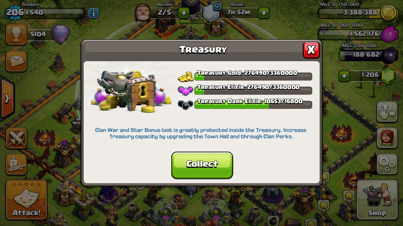 Clash of clans best way to use treasury aka the bank youtube publicscrutiny Image collections