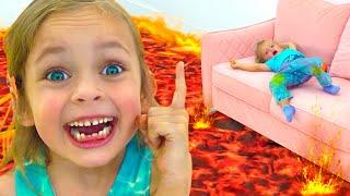 الأرضية حمم بركانية - أغنية للطفل   Kids Song by Maya and Mary