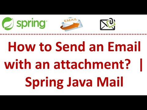 How to Send an Email with an attachment? | Spring Java Mail