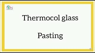 Craft and Painting : Thermocol Glass Painting, M3