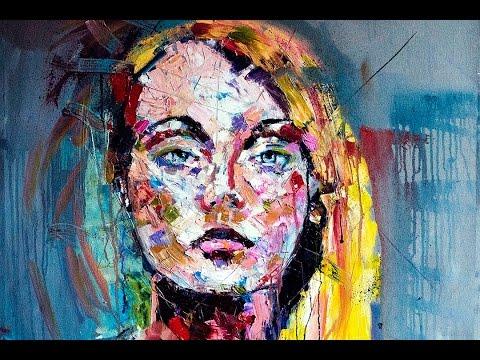 Palette Knife Oil Portrait - Speed Painting