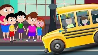 колеса на автобусе пойти кругом | Дети потешки | Rhymes For Kids | The Wheels on the Bus