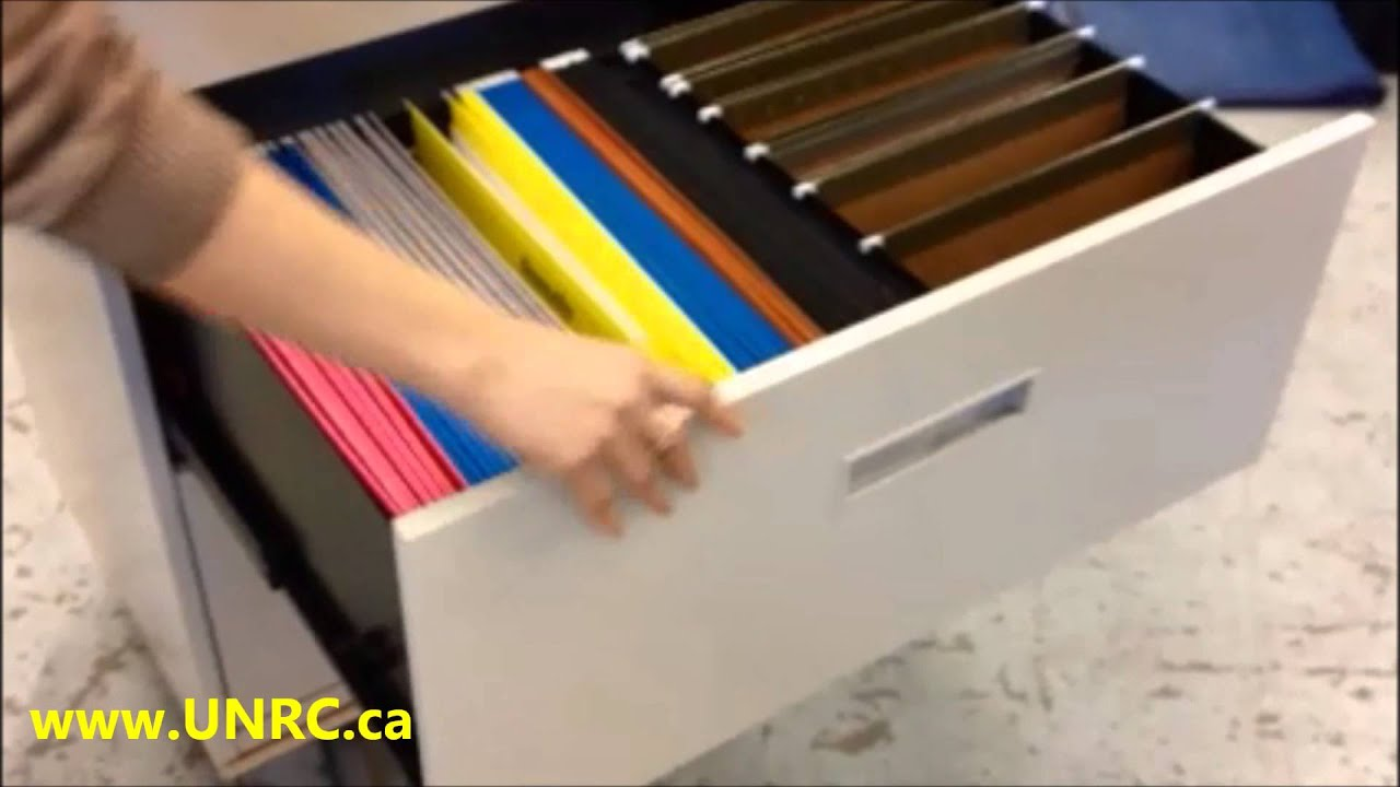 Steelcase 800 - 5 Drawer Lateral Filing Cabinet - YouTube