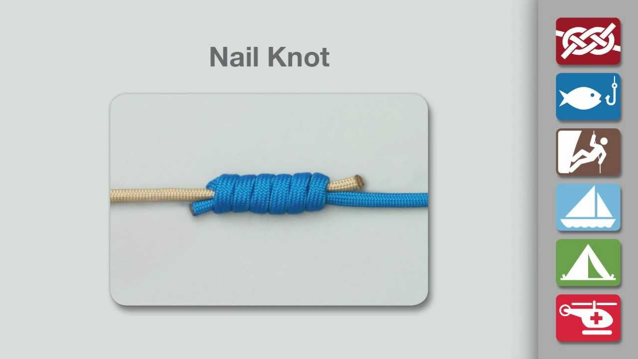 How to Tie a Nail Knot - YouTube