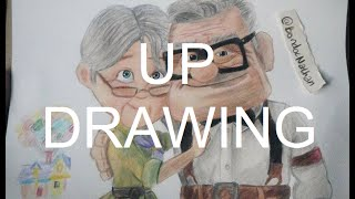 "Carl and Ellie Drawing from the movie ""Up"""