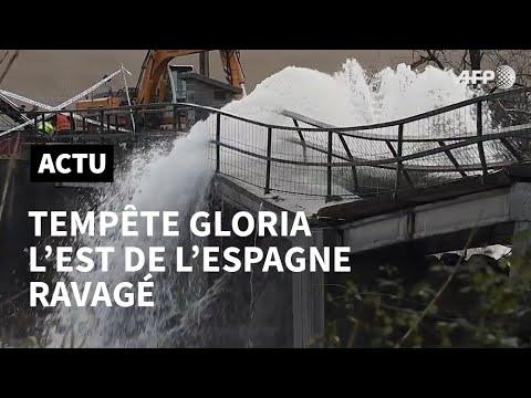 AFP: Les villes de Catalogne restent inondées après la tempête meurtrière Gloria   AFP
