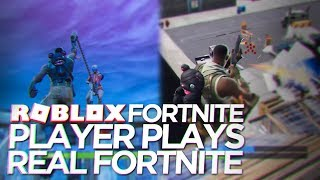 ROBLOX FORTNITE PRO TRIES REAL FORTNITE