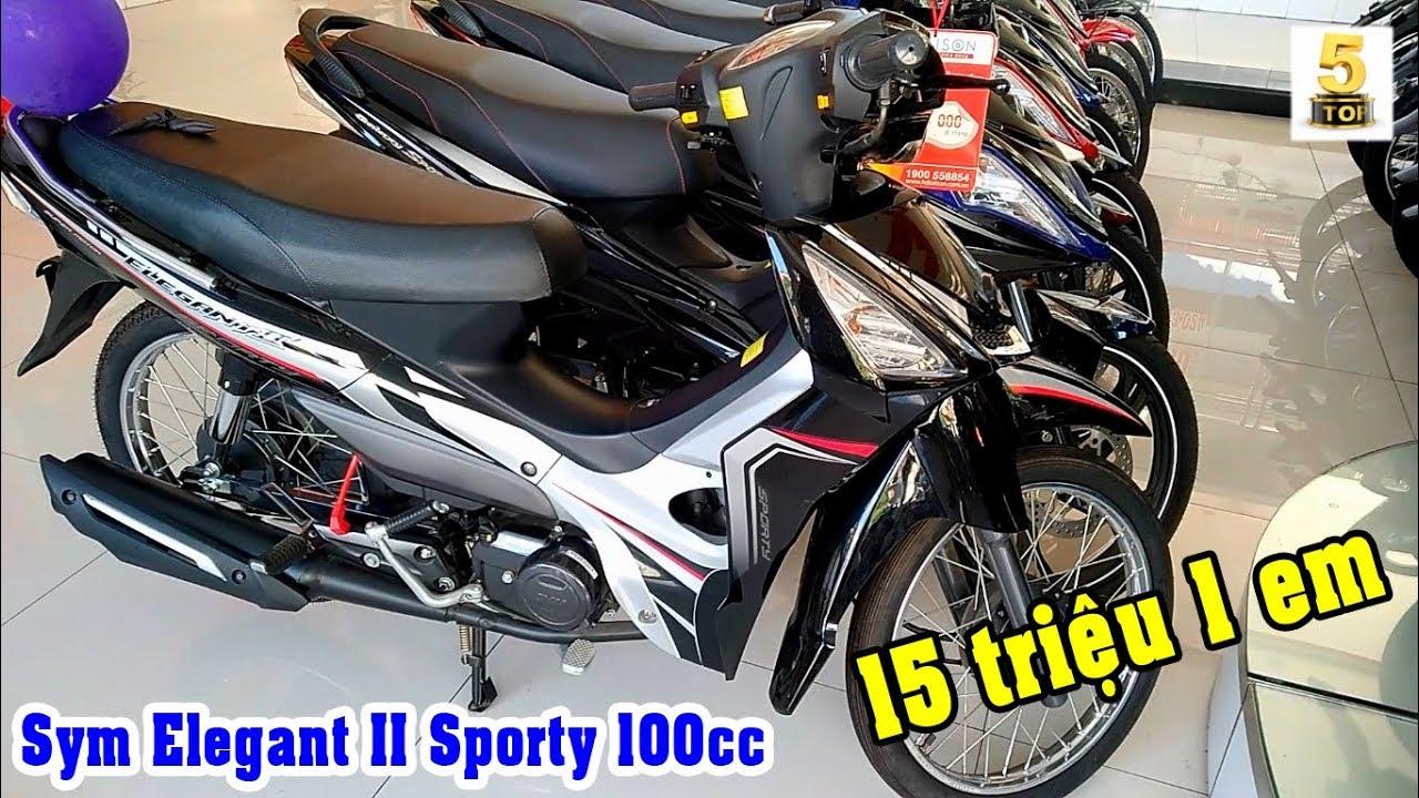 SYM Elegant II Sproty 100cc ▶️ Xe giá rẻ cho lao động phổ thông 🔴 TOP 5 ĐAM MÊ