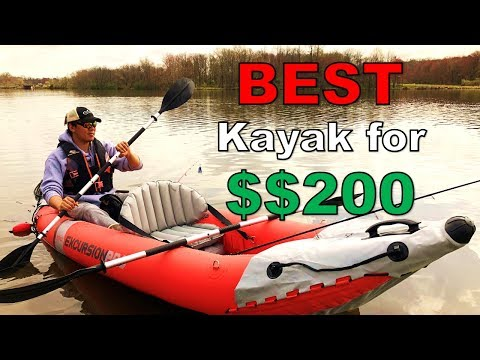 Intex Excursion Pro Inflatable Kayak Full Review (The Best 200$$ Kayak!! Part 1/2)