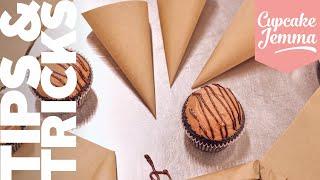 Make your own Piping Bag! Quick & Easy DIY Piping Bag Tip | Cupcake Jemma