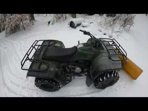 Plowing snow with