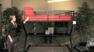 Coaster Anchorage Matte Black Loft Bed