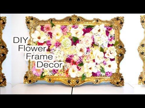 DIY Flower Frame Decor 2017