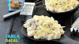 क्रीमी वेज मशरूम पास्ता  | Creamy Veg Mushroom Pasta recipe by Tarla Dalal