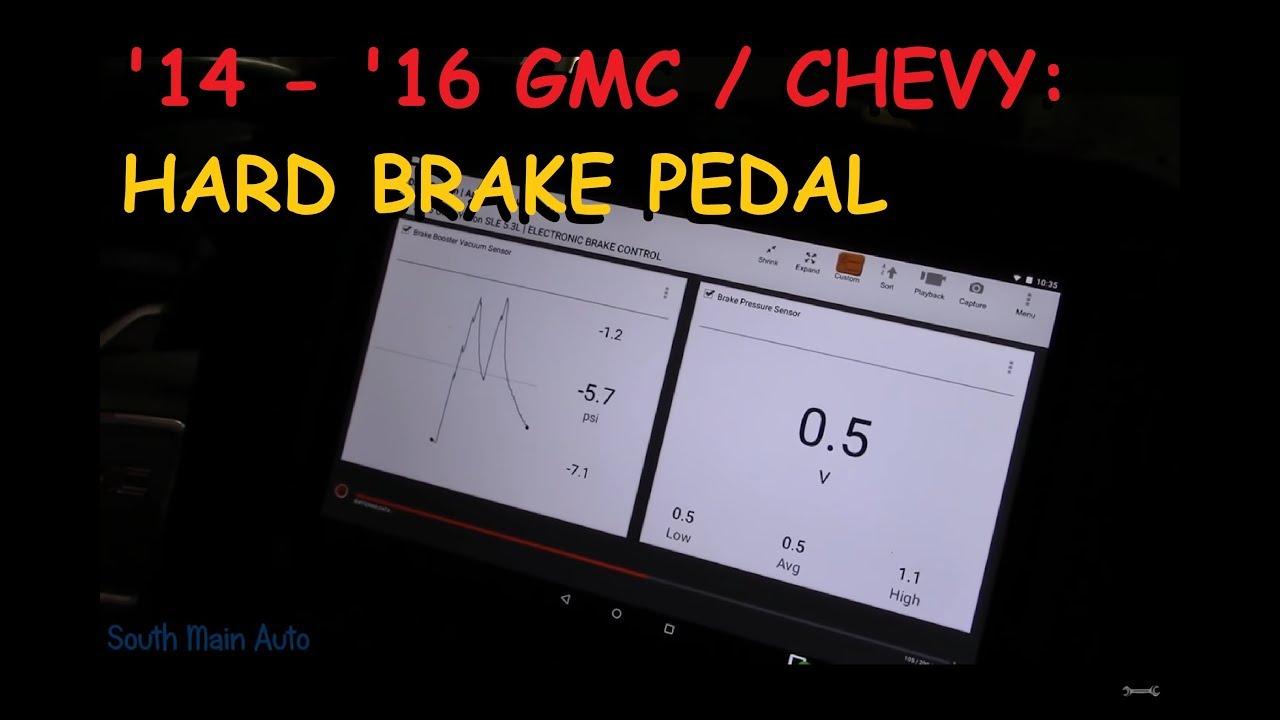 2014 - Current GMC / Chevrolet : Hard Brake Pedal