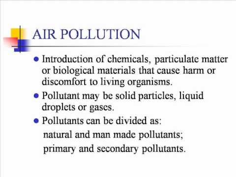 Air Pollution Kid Definition