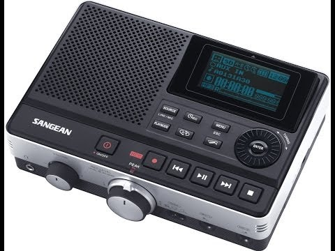 SANGEAN DAR-101 MP3 RECORDER UNBOXING