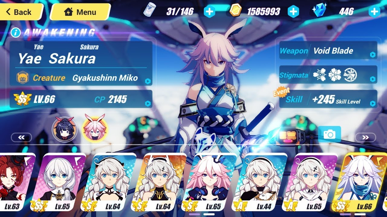 Repeat Honkai Impact 3 - Yae Sakura SS Ranked up! Gameplay Android