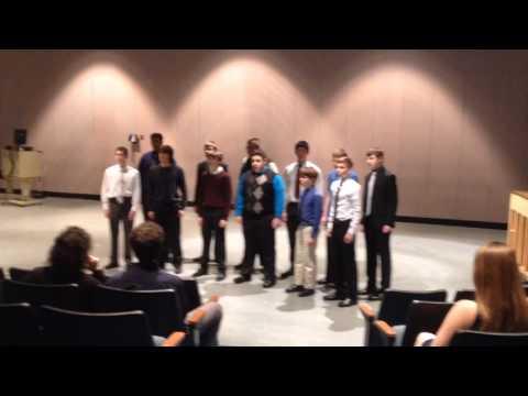 "Brian's Penn High School Ensemble performs ""16 Tons"" in preparation for the ISSMA com"