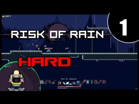 RISK OF RAIN Hard Monsoon - Mercenary - Walkthrough Gameplay [1/3]