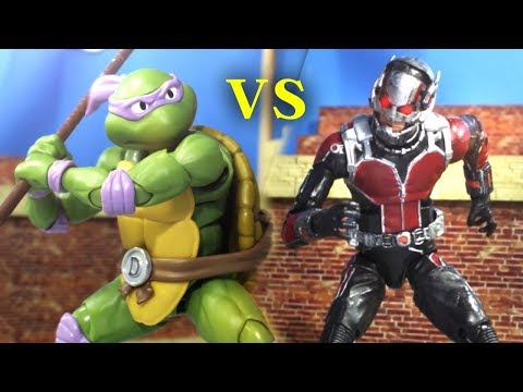 Antman VS Ninja Turtle Stop Motion