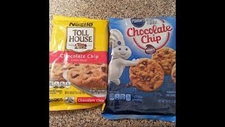 Nestle Toll House Cookies Vs Pillsbury Cookies  Which One Is Best??