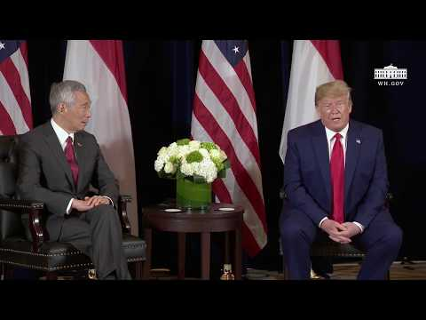 President Trump Participates in a Bilateral Meeting with the President of the Republic of Singapore