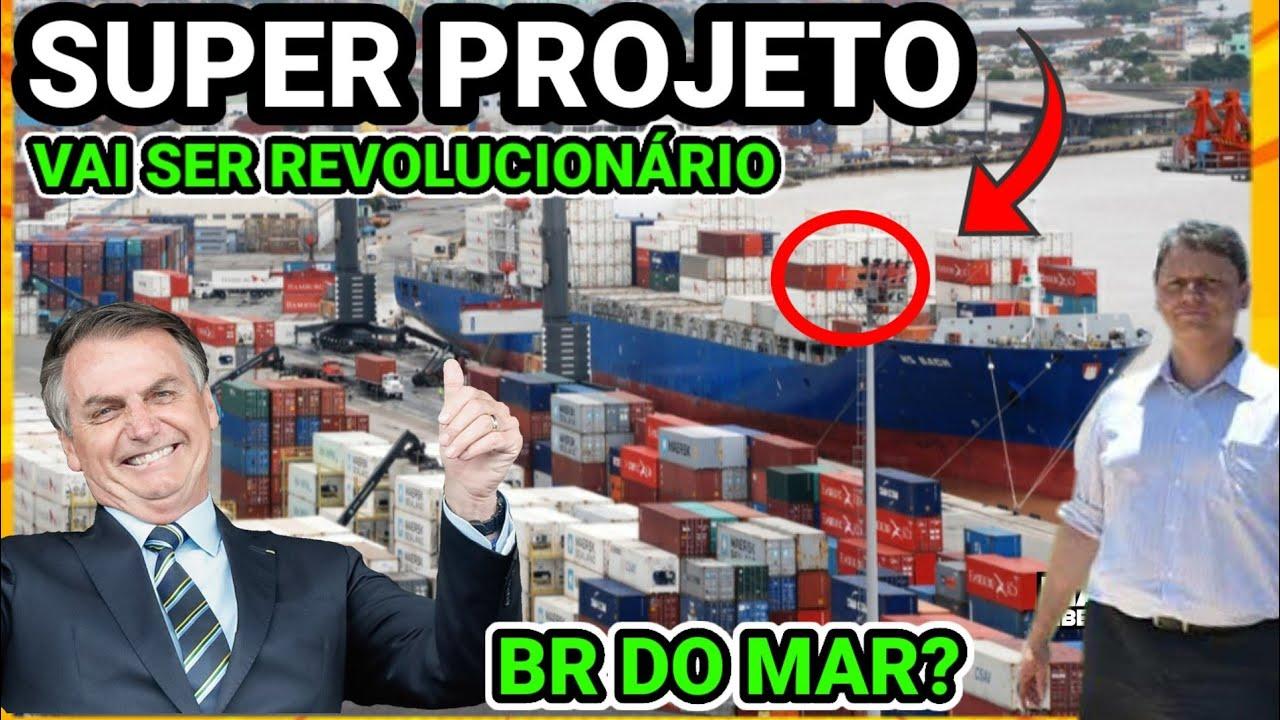 ?BOLSONARO LANÇA PROJETO REVOLUCIONÁRIO PARA TRANSPORTE DE CARGAS NO BRASIL, BR DO MAR, INCRÍVEL