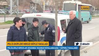 Kahramanmaraş'ta Polis Ekipleri Hırsızı Böyle Yakaladı