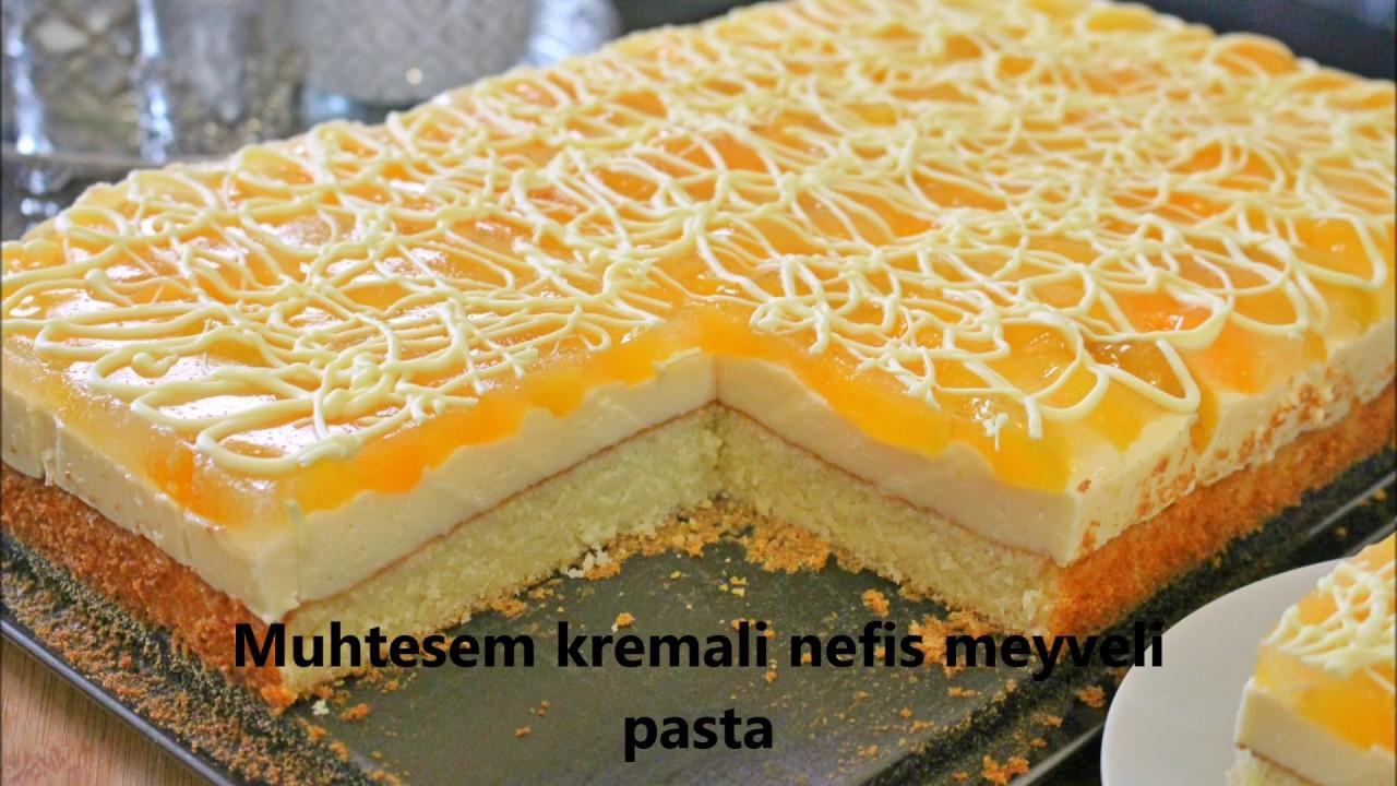 Muhtesem kremali meyveli çok ama çok kolay pasta