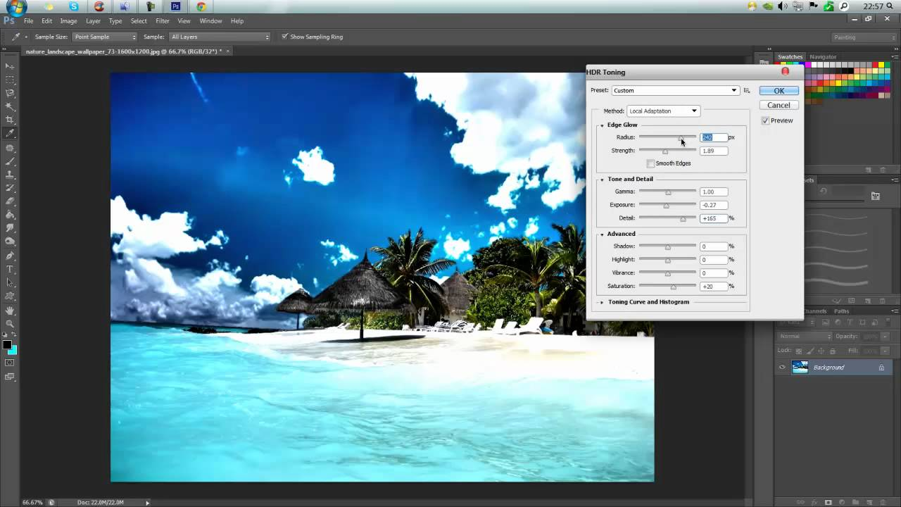 how to make hdr on photoshop