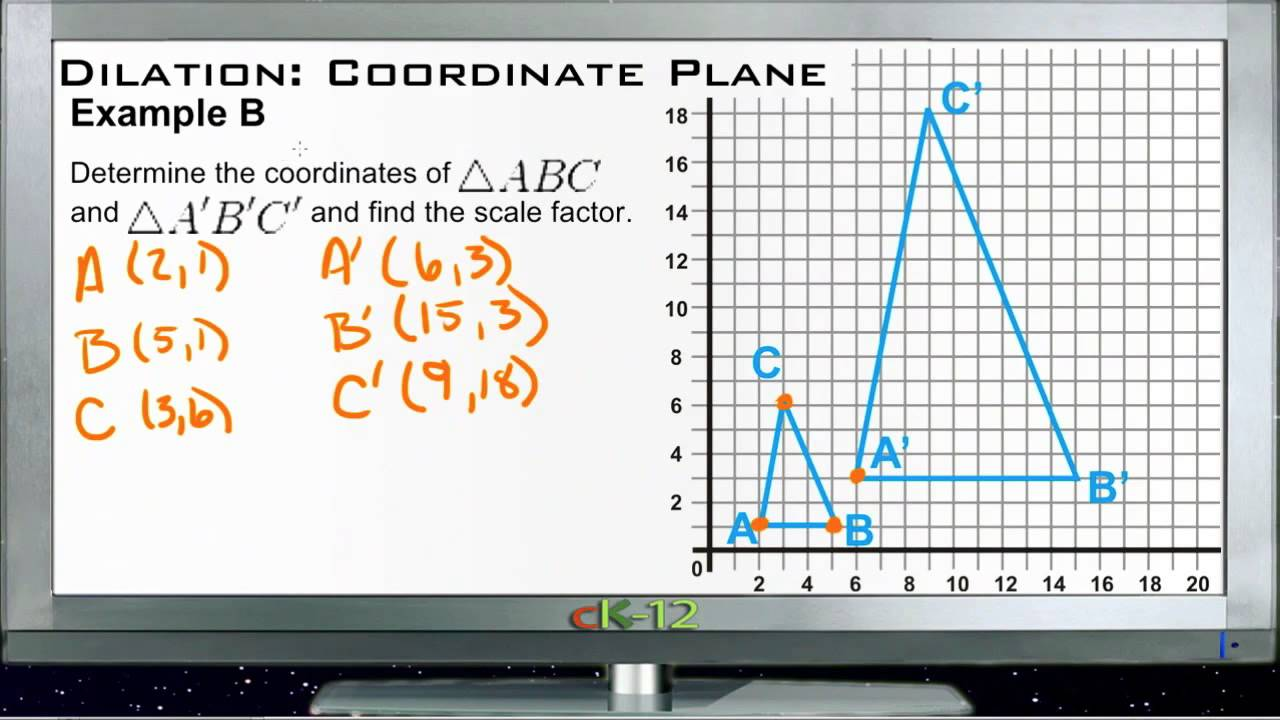 Dilation in the Coordinate Plane: Examples (Basic Geometry Concepts) -  YouTube [ 720 x 1280 Pixel ]