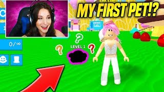 THIS Was My FIRST PET IN ICE CREAM SIMULATOR UPDATE!! *NOOB WARNING* (Roblox)