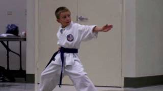 7 year old performs Heian Godan