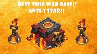 Clash Of Clans: Best TH 10 War Base!! Anti 2 Star!! Tough Base!!