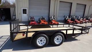 Utility Trailer 6.4x16 Dove Tail Double Axle Includes Gate Sle
